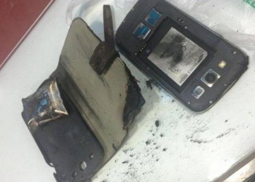 Очередное самовозгорание смартфона Samsung заснято на видео