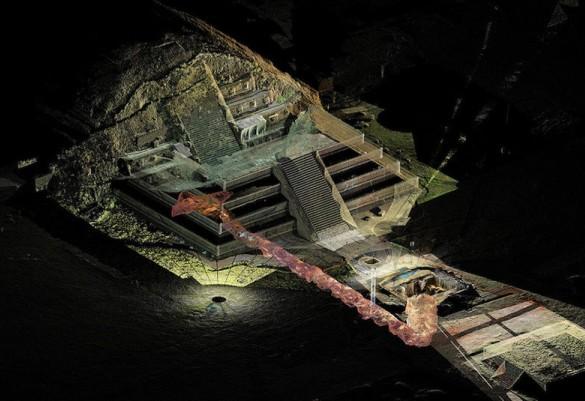 Археологи обнаружили под пирамидой 50 000 артефактов