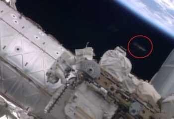 NASA выложило видео с замеченым НЛО у МКС