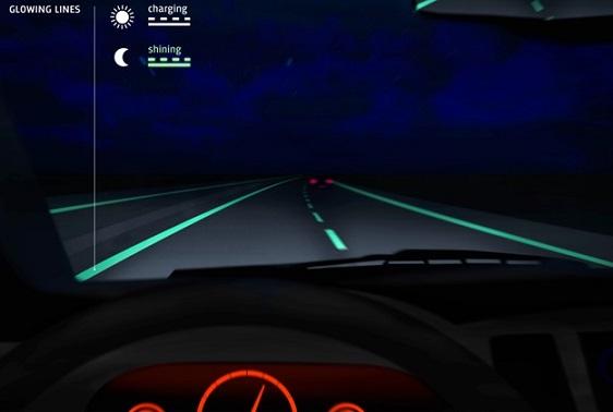 Построена первая в мире светящаяся в темноте дорога