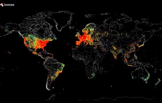 Всемирная карта интернета
