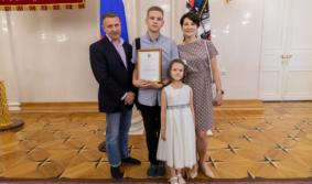 Ученик медицинского класса Богдан Рудик признан заслуженным москвичом