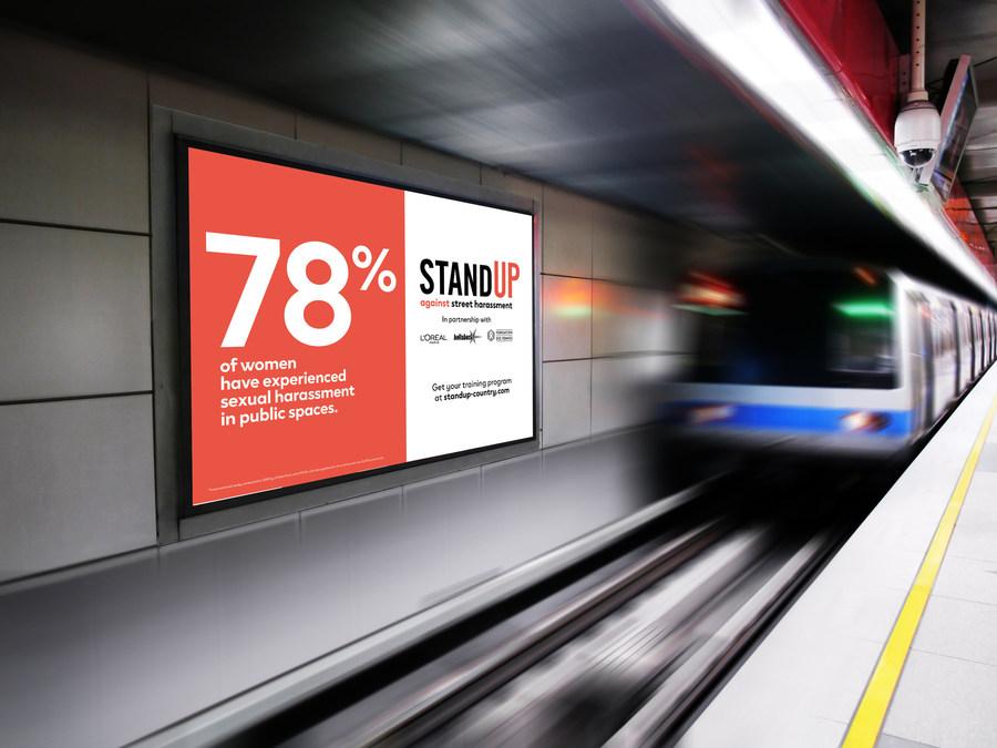 «Stand Up»: программа L'Oreal Paris и Hollaback! против уличных домогательств