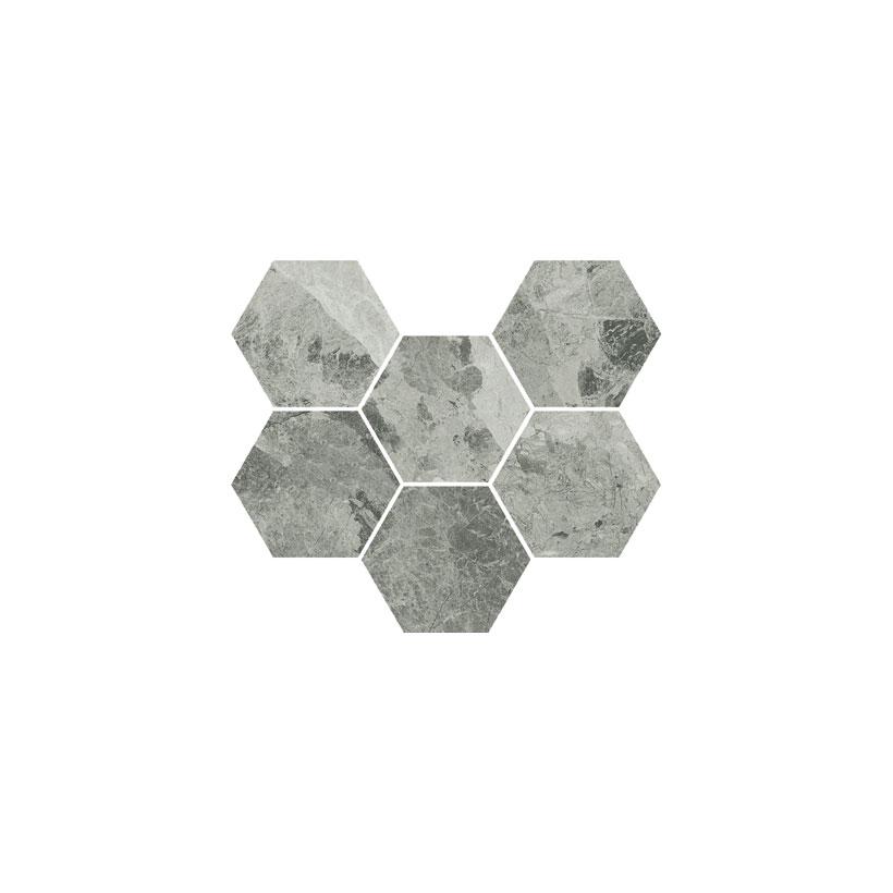 ITALON Шарм Экстра Силвер Мозаика Гексагон 25x29