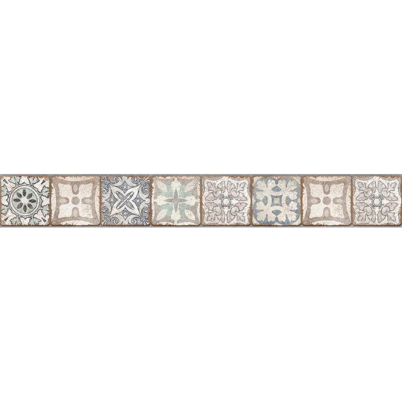 Керамическая плитка Cersanit Majolica бордюр многоцветный MA1J452 8х60