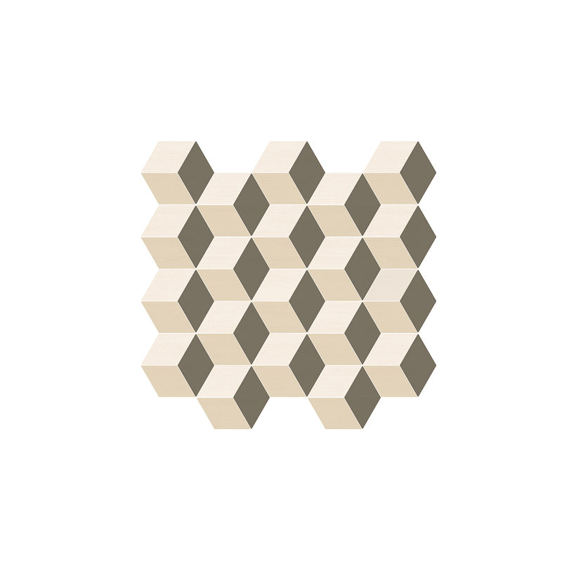 ITALON Элемент Мозаика Куб Ворм 30,5x33  Матовая