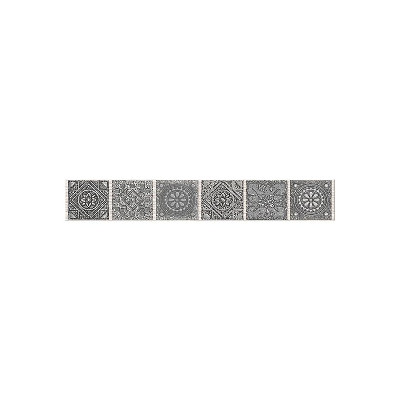 Бордюр AZORI Grazia Grey Nefertiti 40,5х6,2