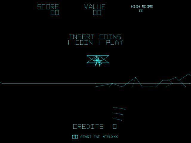Векторная графика в Atari Red Baron