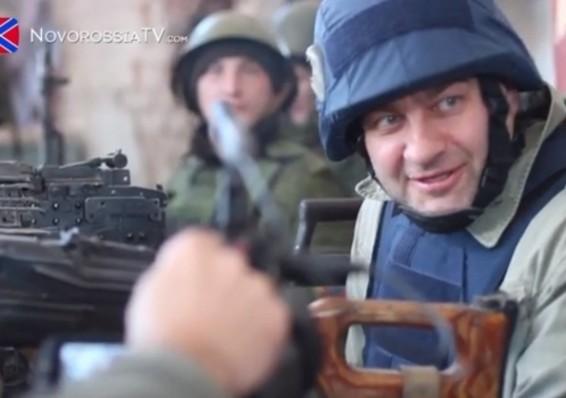Российский актер Пореченков приехал на Донбасс пострелять из пулемета