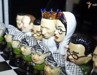 "В ""Межигорье"" нашли шахматы, где пешки - Ясир Арафат, а Путин - король"
