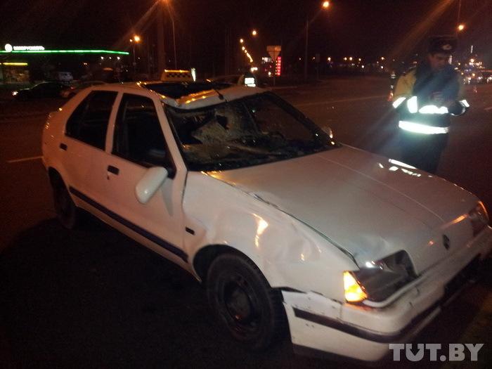 В Минске на МКАД под колесами такси погиб пешеход