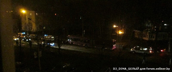 Гомель: водитель Mazda протаранил автобус — один пострадавший