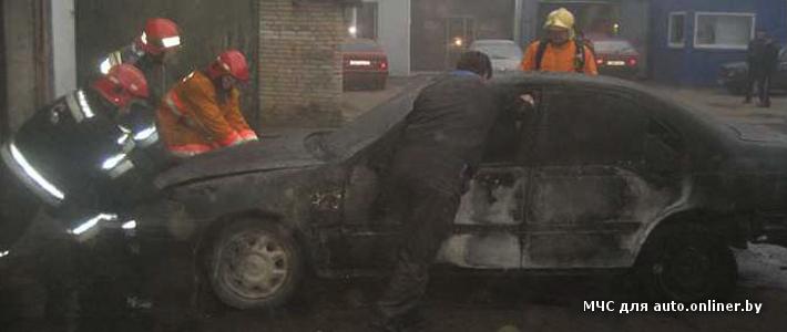 Витебск: во время пожара на СТО поврежден Rover, закопчены еще семь автомобилей