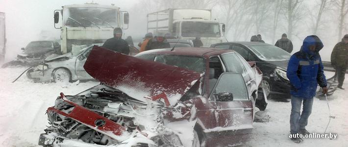 Из-за стихии и ДТП перекрыто несколько важных трасс, заблокирован въезд в Минск с юго-запада