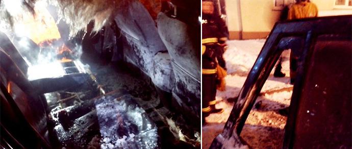 В столице пиротехника подожгла Toyota RAV4