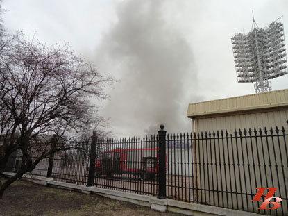 Пожар на столичном стадионе