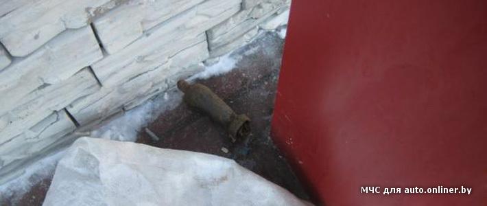 Могилев: из машины дорожников выпала мина