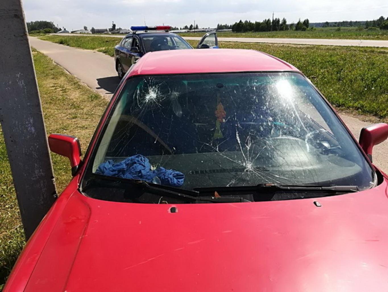 Пьяный жодинец на машине столкнулся с гужевой повозкой