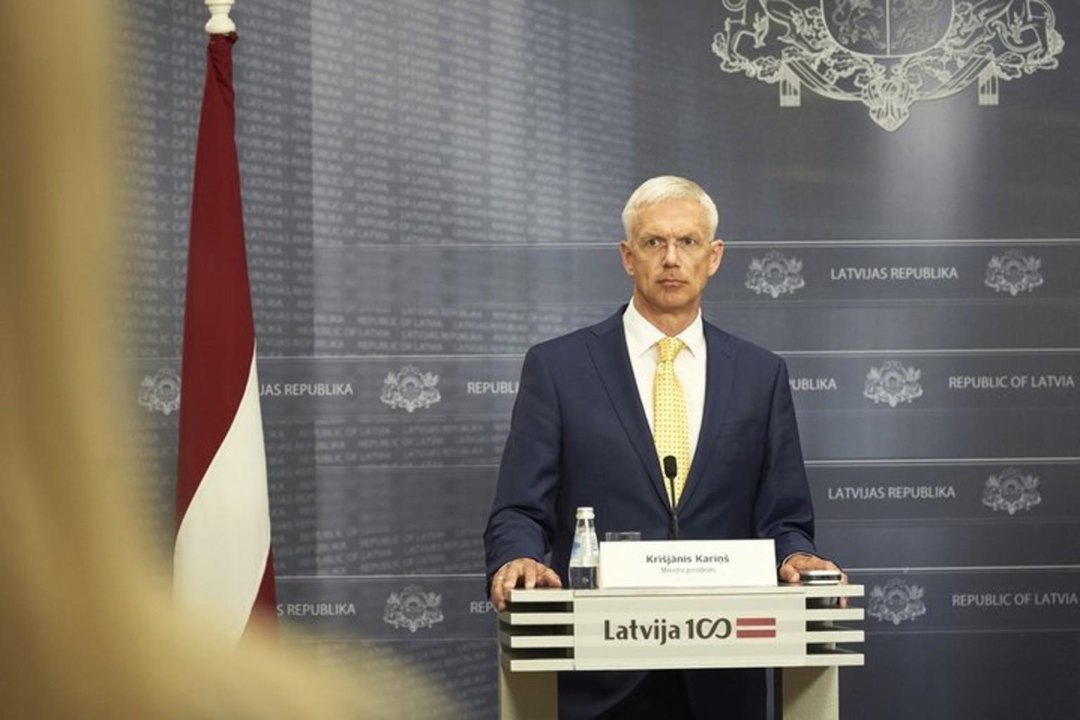 Krishyanis karinsh premer ministr latvii 2