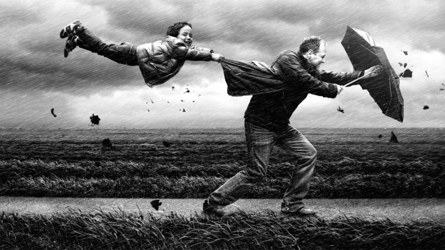 Смешные картинки про ветер и дождь