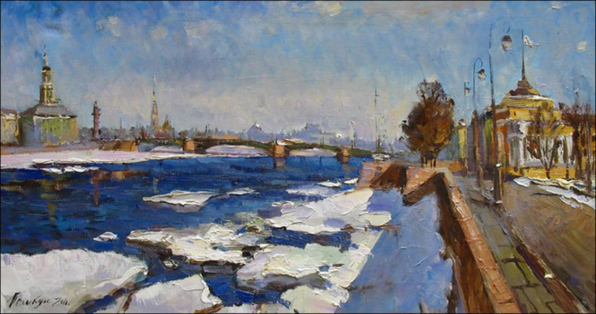 Картина Василия Пешкуна «Февральское небо»