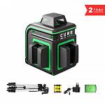 Уровень лазерный ADA CUBE 360 2V GREEN PROFESSIONAL EDITION