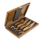 Набор из 4 ножей Narex в деревянной коробке