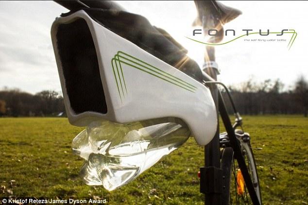 Придумано устройство для велосипедистов, собирающее воду из воздуха