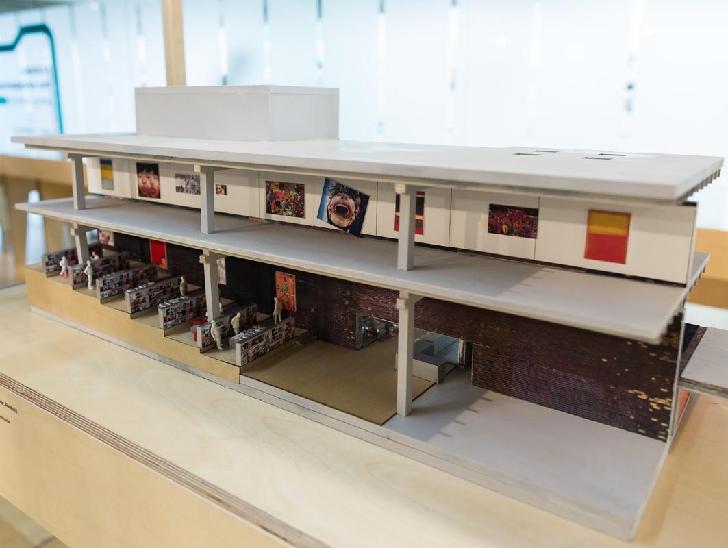 Архитектурыный макет Музея «Гараж» в Парке Горького (павильон «Времена года»)