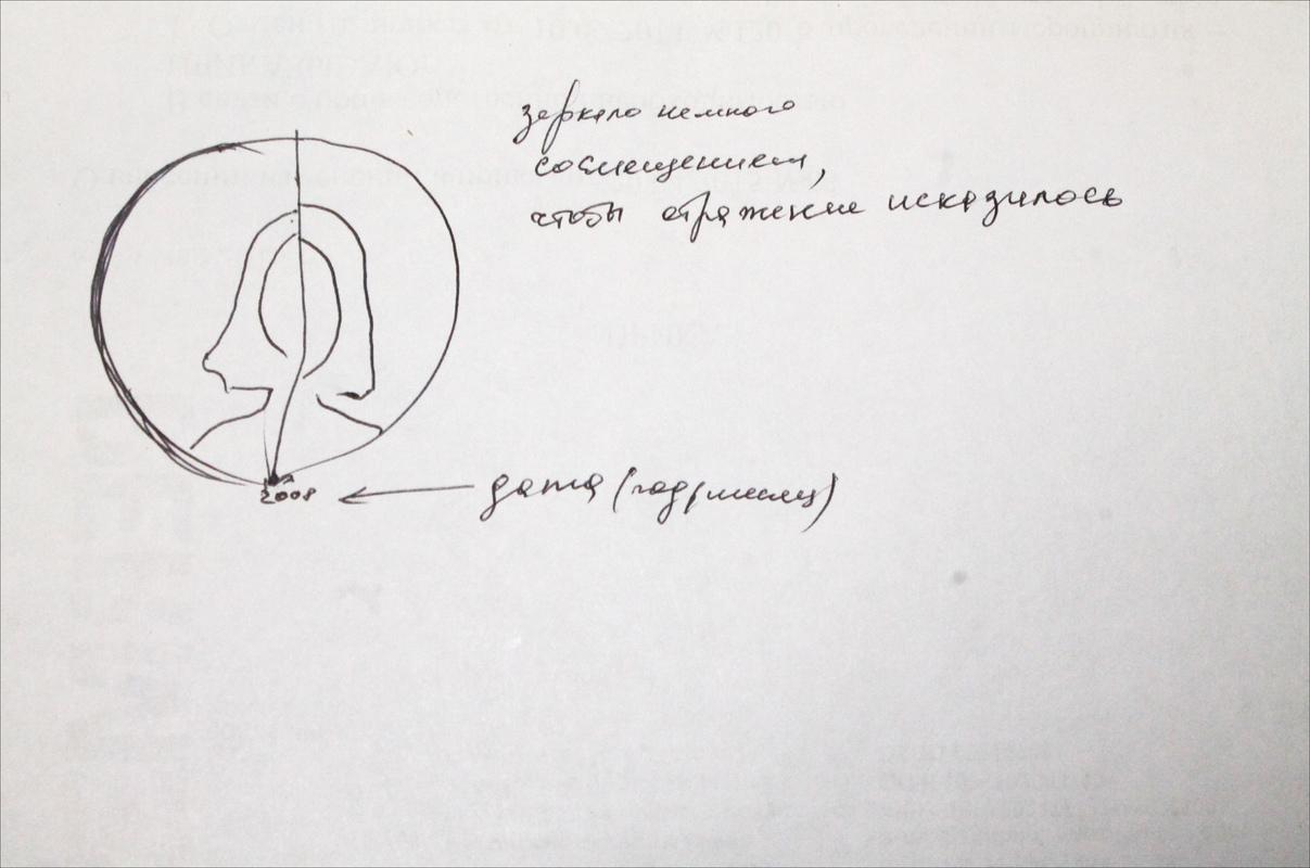 Эскиз Любови Шмыковой к инсталляции «Хрупкость»