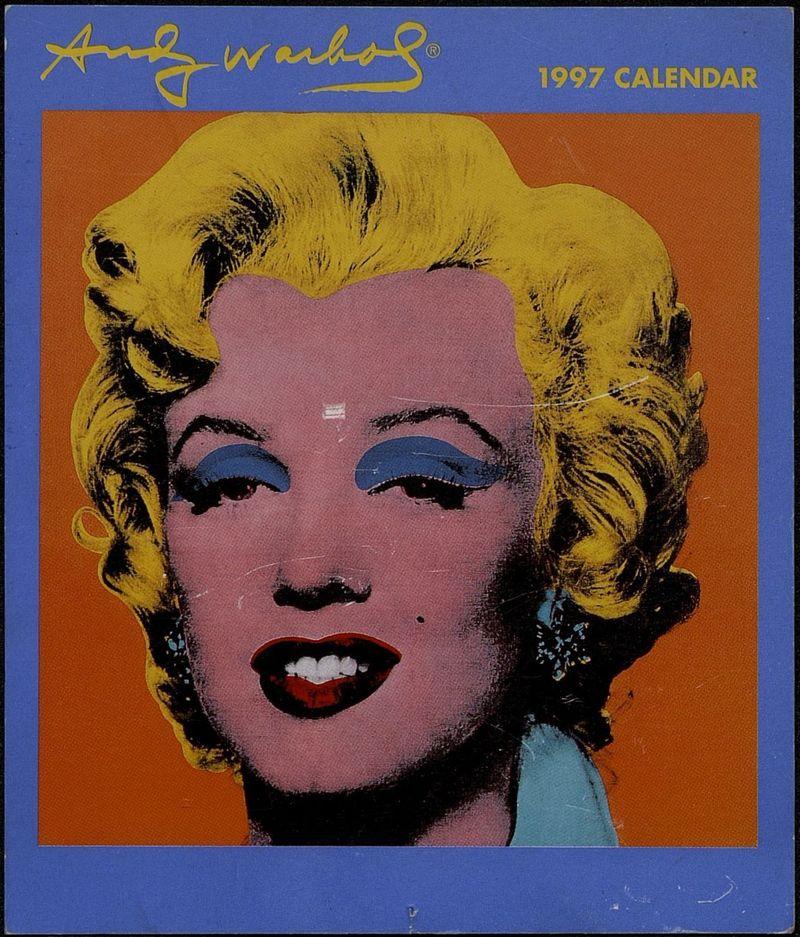 Обложка календаря за 1997 год с изображением работы Энди Уорхола «Диптих Мэрилин»