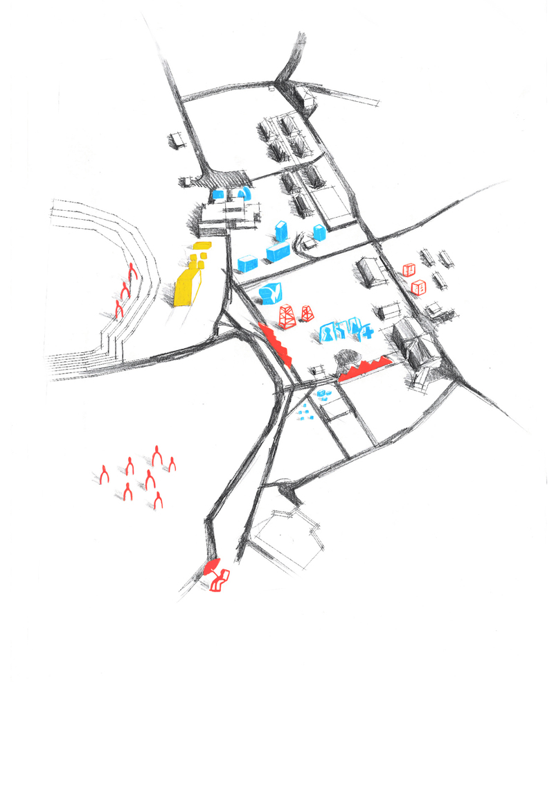 Схема расположения объектов на зимнем фестивале современного искусства «ЩИ»