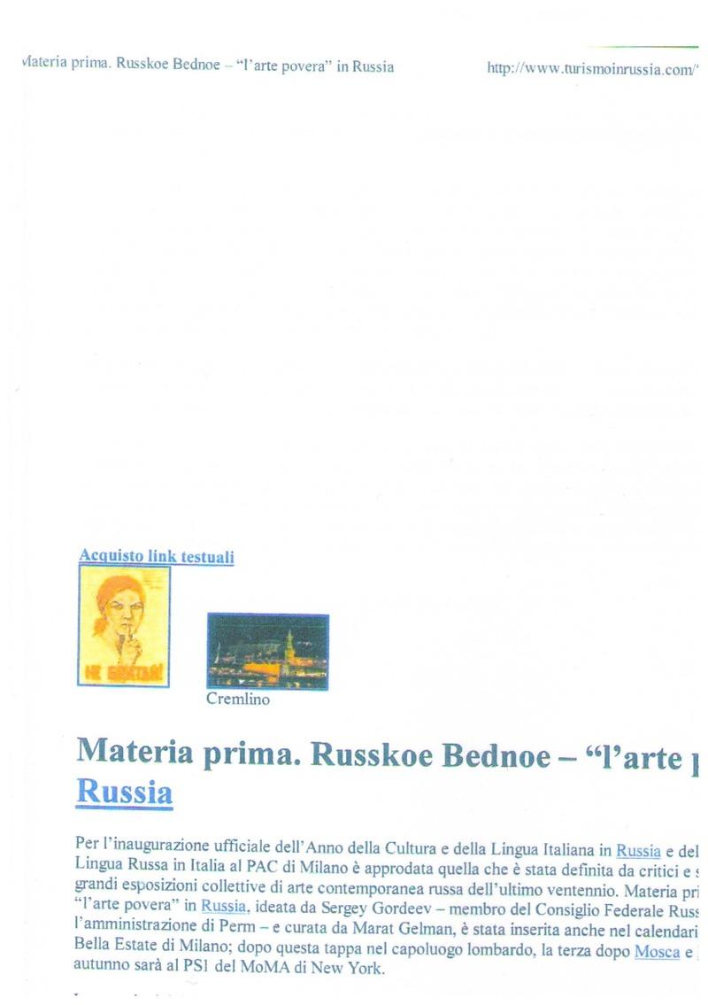 Публикации о выставке «Русское бедное» в Милане