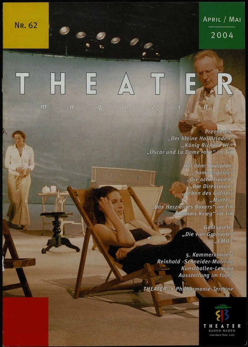 "Обложка журнала ""Theater Magazin"" с афишей выставки ""HA KYPOPT! Russische kunst heute"""