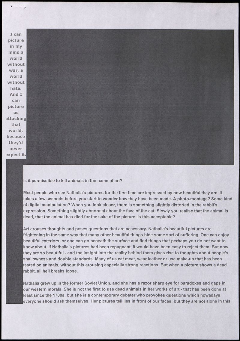 Заявление галереи Wetterling в защиту работ Натальи Эденмонт