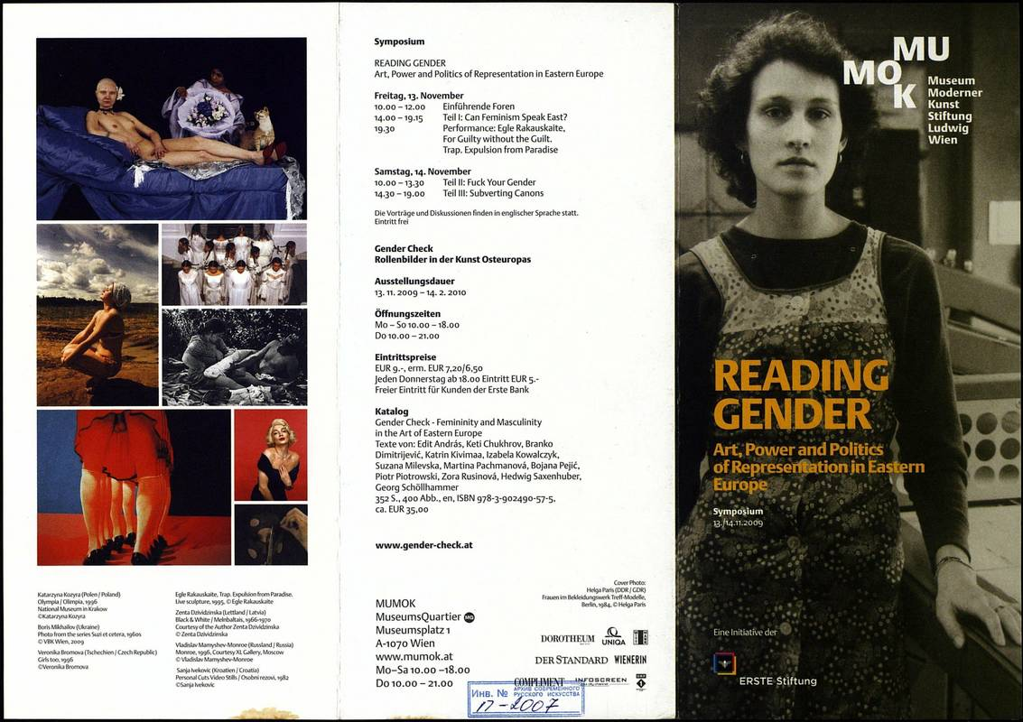 Gender check. Feminity and Masculinity in the Art of Eastern Europe