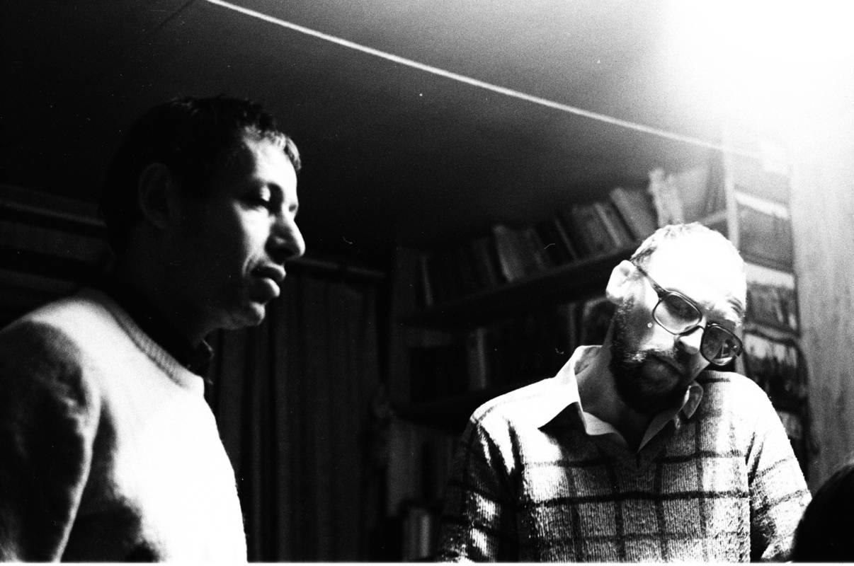 Иосиф Бакштейн и Дмитрий Пригов. Москва