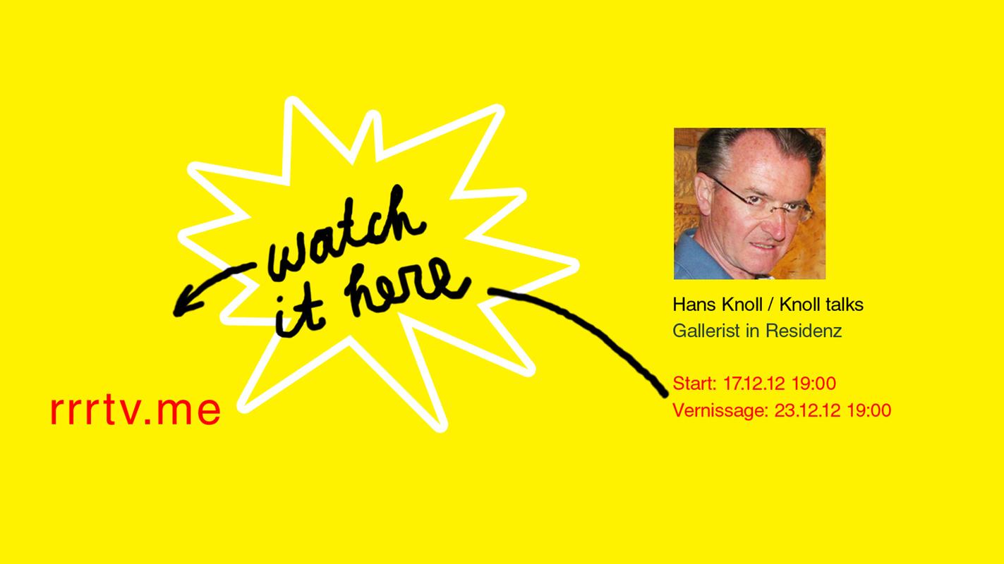 Ханс Кнолль. Knoll talks