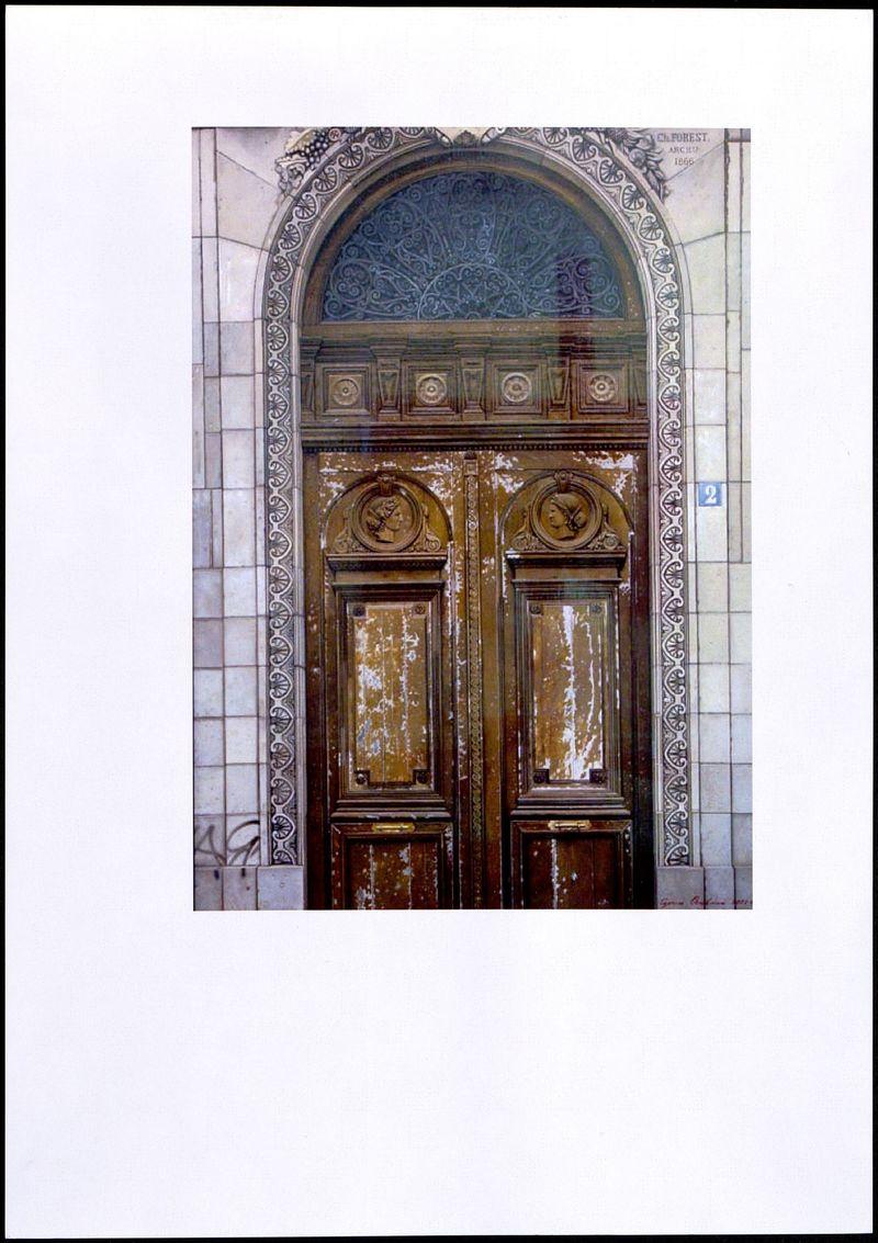 Репродукция работы Сергея Оссовского из серия «Старые парижские двери»