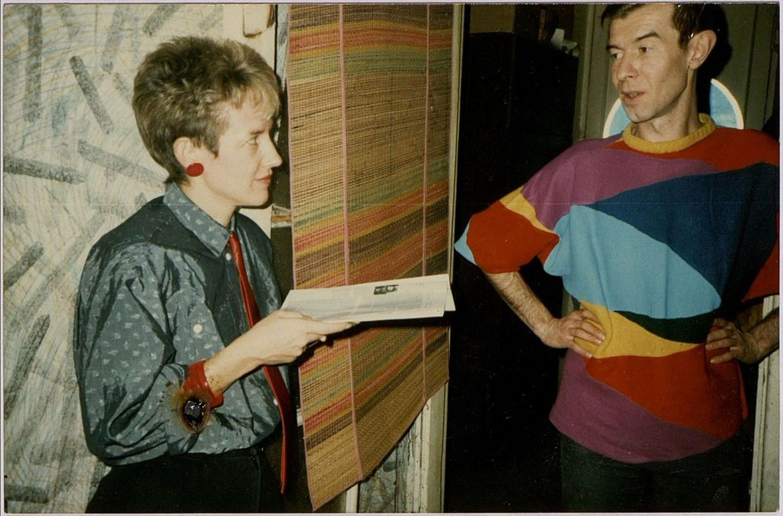 Нэнси Тревор и Никита Алексеев в квартире Никиты Алексеева. Москва