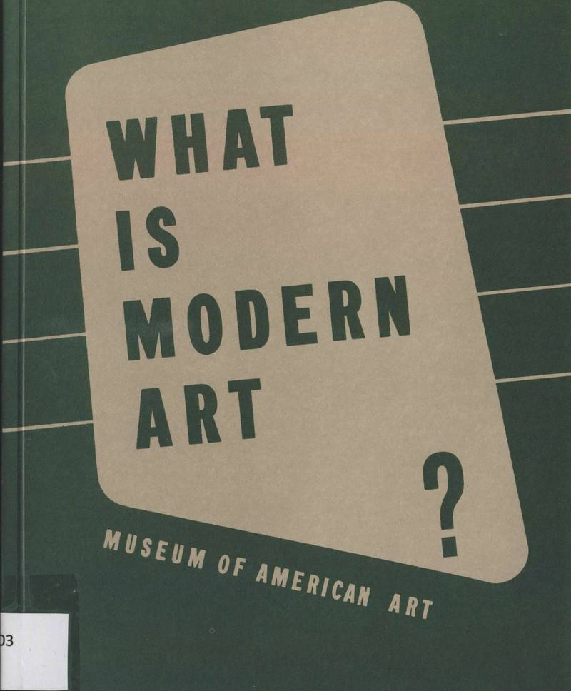 What is Modern Art? Introductory Series to the Modern Art 2