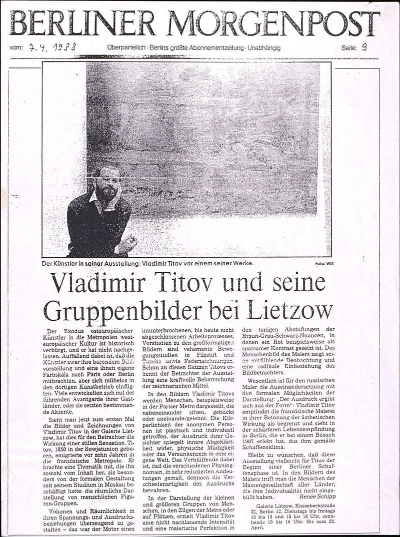 Vladimir Titov und seine Gruppenbilder bei Lietzow