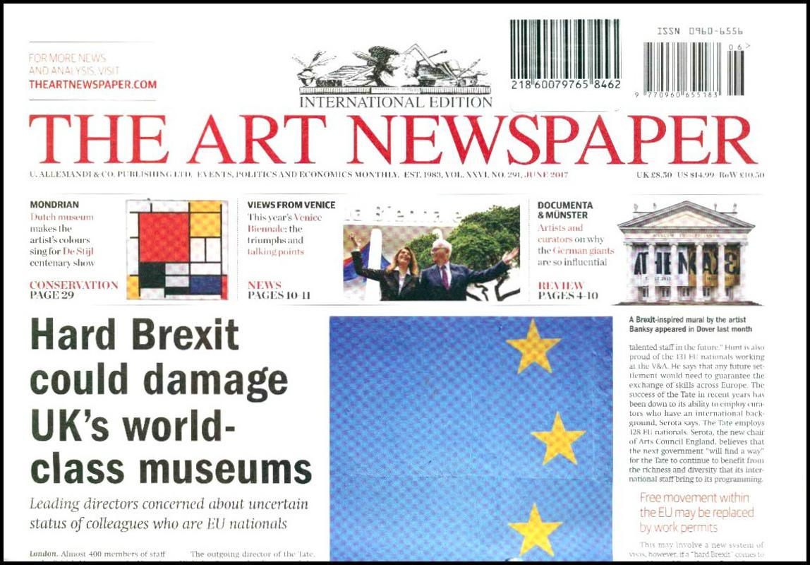 Art Newspaper, the. — 2017. V. 0 no.291