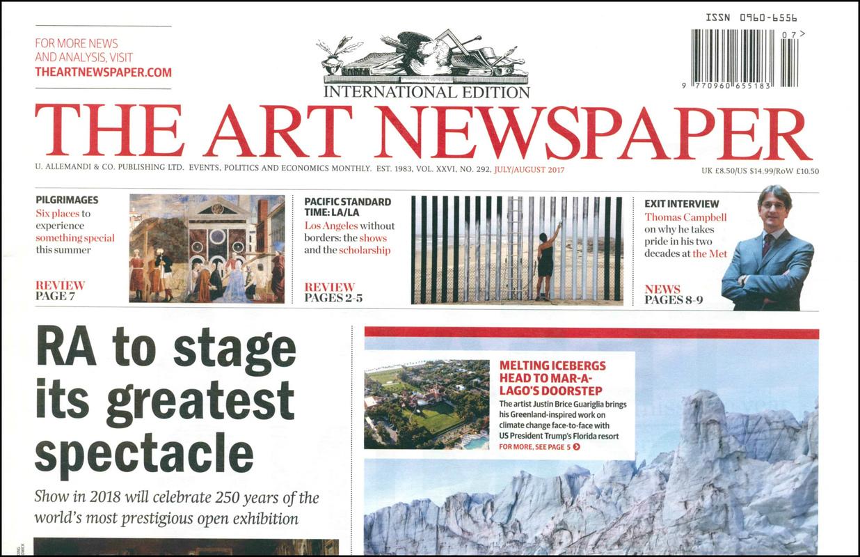 Art Newspaper, the. — 2017. V. 0 no.292