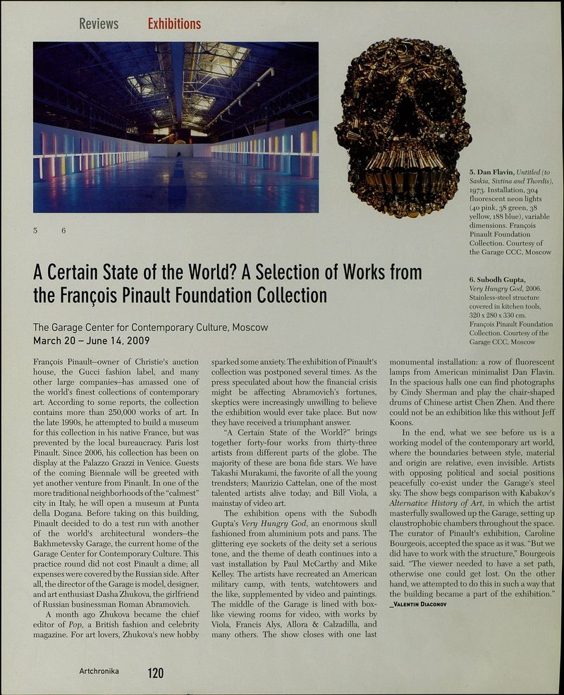 A Certain State of the World? A Selection of Works from the Francois Pinault Foundation Collection