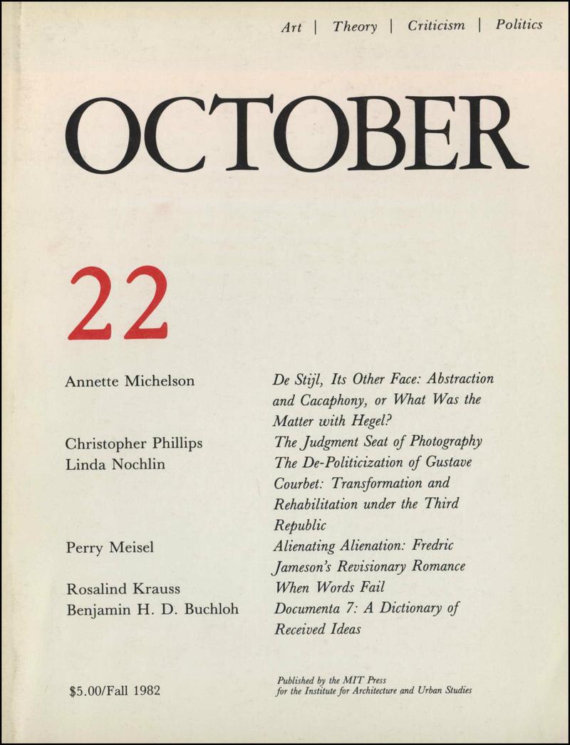 October. — 1982. no.22