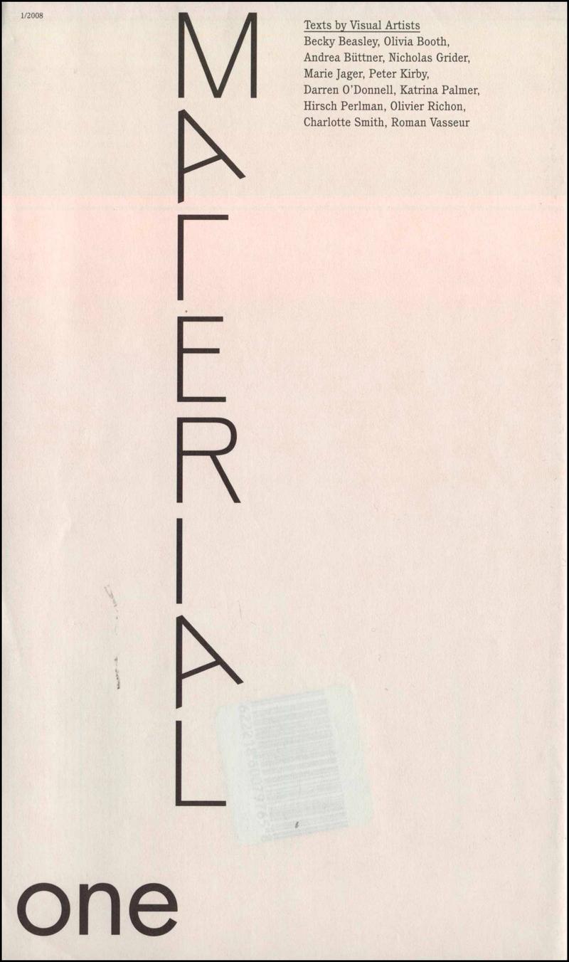 Material. — 2008. no.1