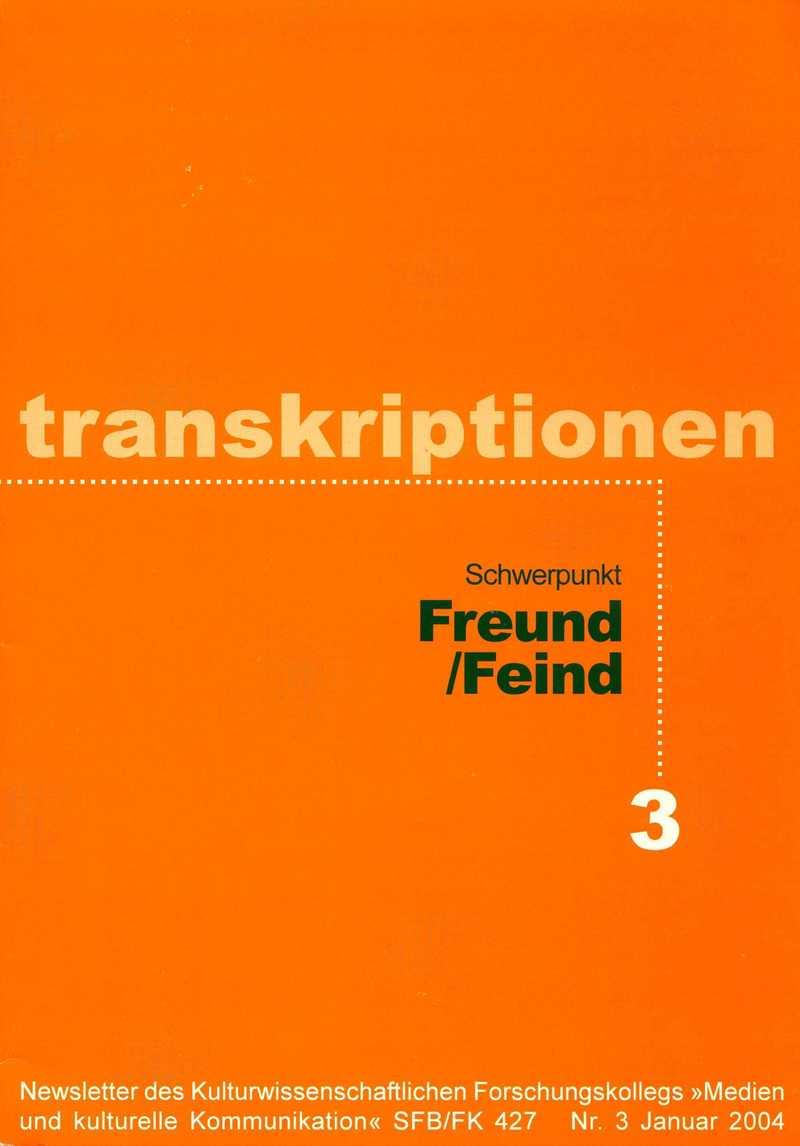 Transkriptionen. — 2004. no.3