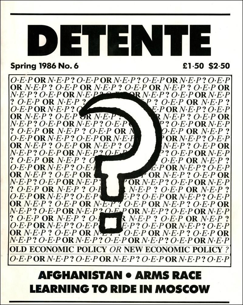DETENTE. — 1986. no.6
