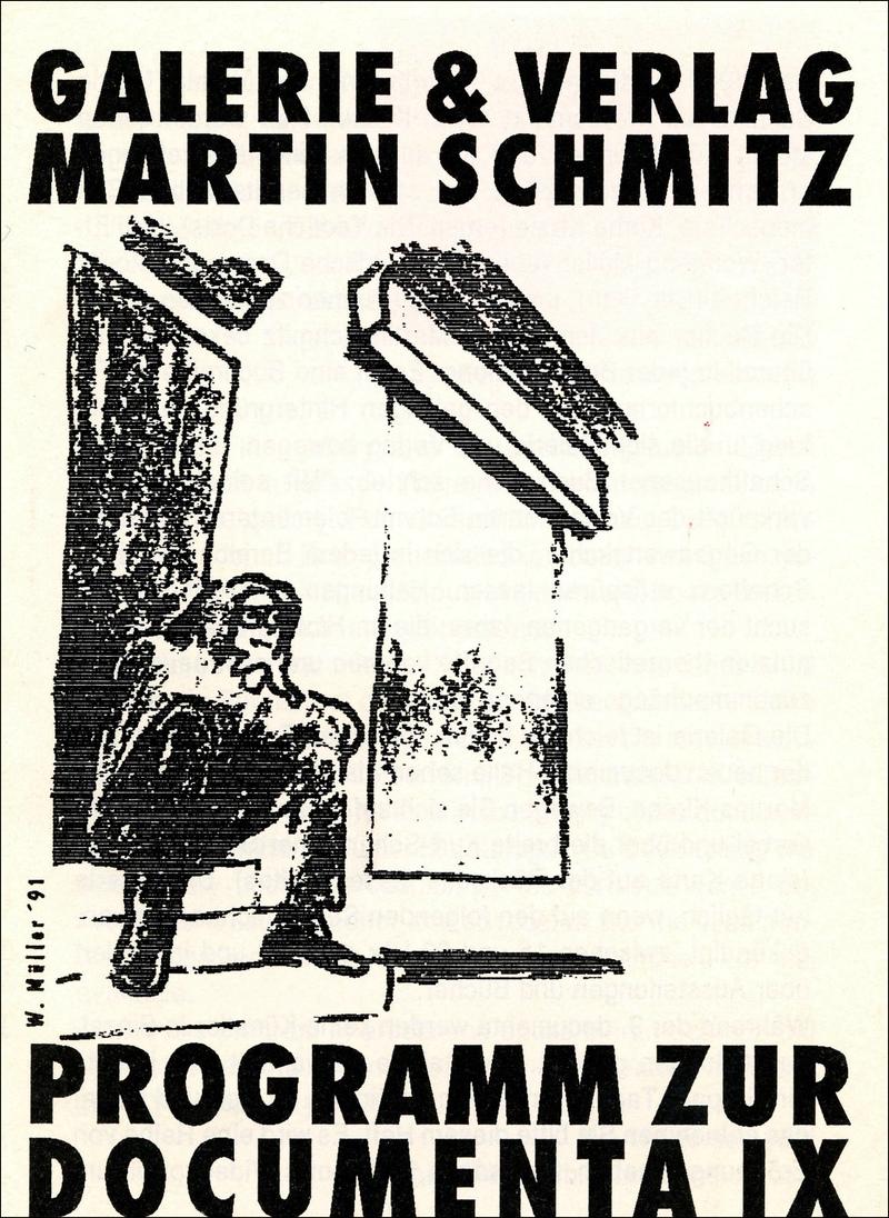 Galerie & Verlag Martin Schmitz. Programm zur Documenta IX